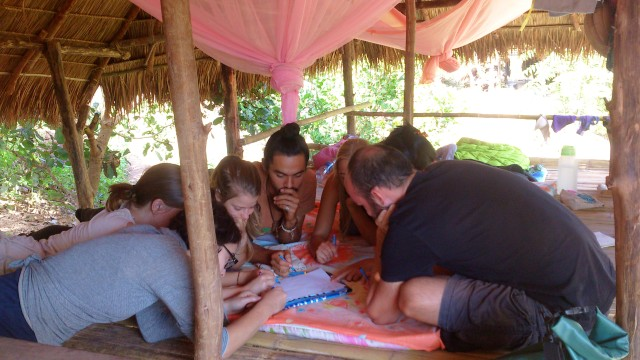 In Permaculture course: Group Discussion on topic of Soil