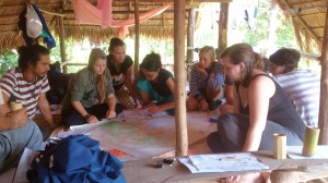 In permaculture course: Design project presentation