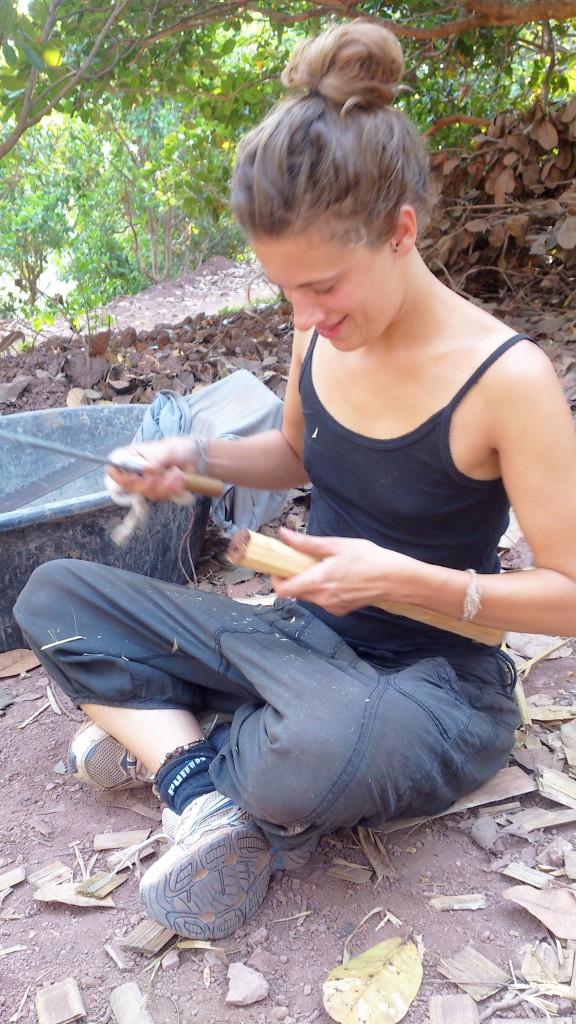 Working with teak wood