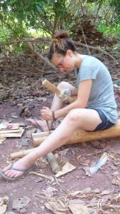 Making hole on teak wood