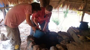 Making Foundation for earth oven