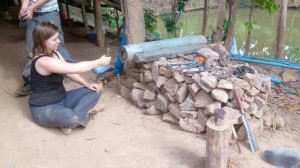 Heating the metal until the they become soft enough for shaping with hand tools
