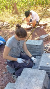 Preparing bricks