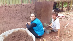 Making mud wall