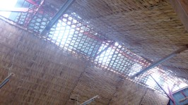 Bamboo design under the roof.