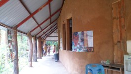 This school was built by the villagers themselves in three years. Mud is the main material of wall.